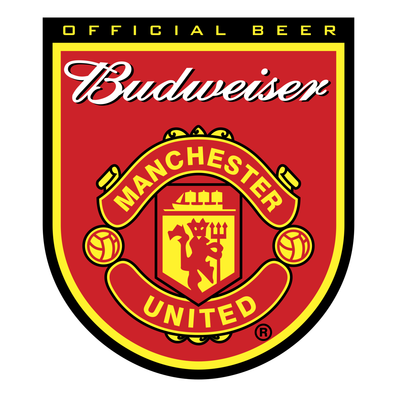 budweiser manchester united logo png transparent brands logos budweiser manchester united logo png